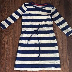 Merona striped dress with tie at waistband